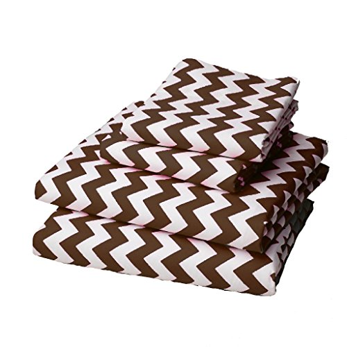 Lowest Prices! bkb Chevron Round Crib Bedding, Brown