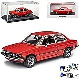 B-M-W 3er E21 323i Coupe Henna Rot 1975-1983 limitiert auf 500 Stück 1/43 Minichamps Maxichamps Modell Auto mit individiuellem Wunschkennzeichen