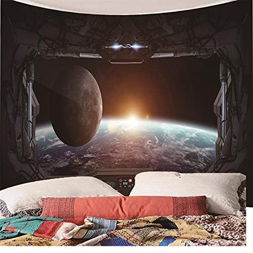binghongcha Tapestry Space Planet 3D Wall Art Hippie Mandala Wall Hanging Decorations Wall Cloth For Bedroom Living Room Dorm Decor 350X256Cm (A-108)