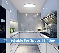 Yafido Ceiling Light 36W LED Ceiling Lights Daylight White Ø23cm Indoor Square Ceiling Lamp for Bedroom Kitchen Hallway Office Dining Room #3