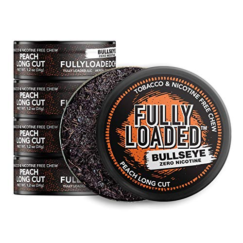 Fully Loaded Chew - 5 Pack - Tobacco and Nicotine Free Peach Flavored Chew