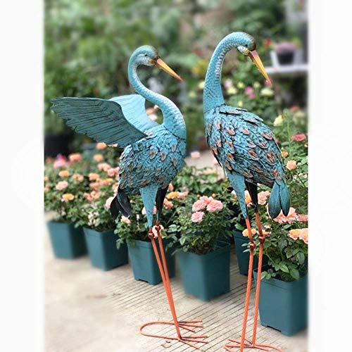 LIUSHI Exalted Crane Pair Scultpture Garden Lawn Decoration,Garden Figure Country House Style,Sculpture