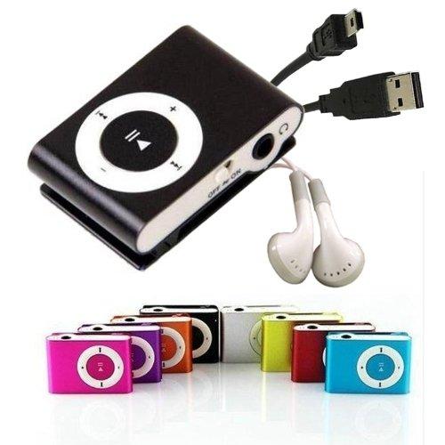 Mini Clip Reproductor MP3 . Incluye Auriculares y USB. Estilo iPod
