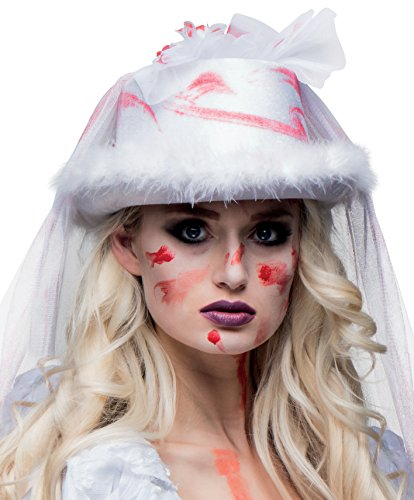 Boland 00805 00805-Hut Horror Braut mit Schleier, Halloween, One Size