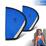 TUSNAKE Infantil Ajustador del Cinturón de Seguridad, Correa Auto Ajustable Pad para Niños Asiento Seguridad Cinturón Clip(Azul 2 piezas)