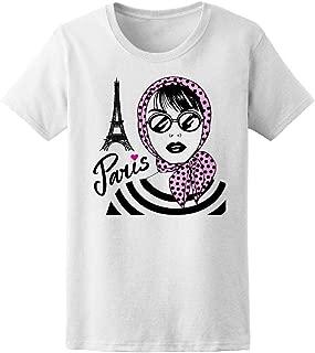 Beautiful Girl Eiffel Tower Tee Women's -Image by Shutterstock