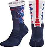 Nike Men's Elite Cushioned Crew 1.5 Basketball Socks Red/White/Blue USA SX 12-15