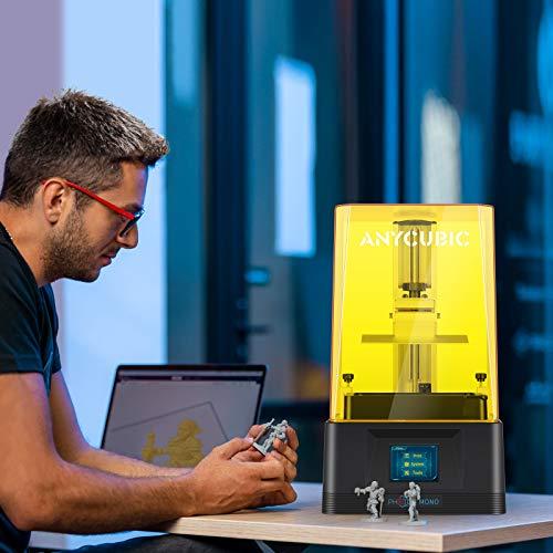 "ANYCUBIC Photon Mono 3D Printer, UV LCD Resin 3D Printer Fast Printing with 6.08'' 2K Monochrome LCD, Off-line Print 5.11""(L) x 3.14""(W) x 6.49""(H) Printing Size"