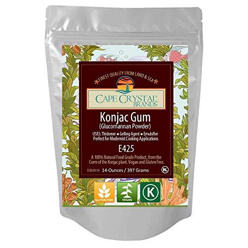 Premium Konjac Gum Glucomannan Powder | Thickening Agent - (K) Kosher ( 2 Oz)