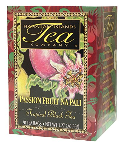 Hawaiian Islands Passion Fruit Na Pali Tropical Black Tea, All Natural - 20 Teabags