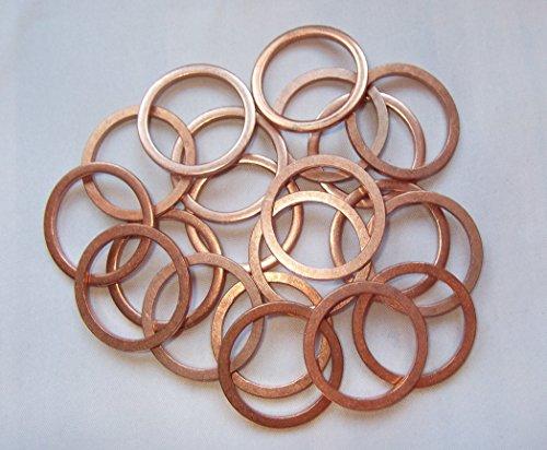 50 Stück Kupferringe/Dichtringe 32x38x2,0 mm Din 7603 Form A