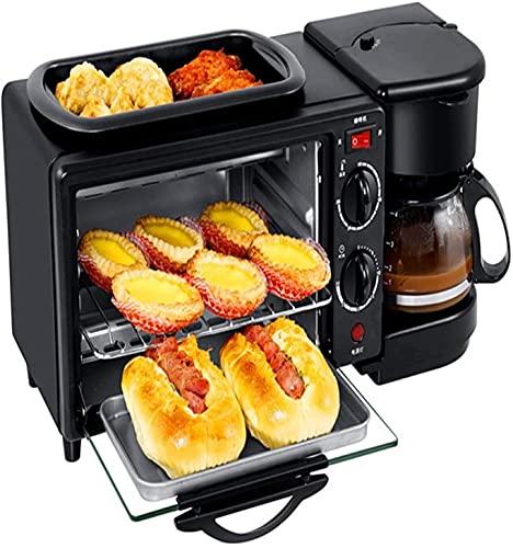 Máquina de Desayuno Multifuncional Tostadora Máquina de café automática Completa Tres en una máquina de Desayuno Exquisita Apariencia BJY969