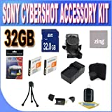 Sony Cyber-Shot Dsc-w510/w530/560/570 32GB Accessory Kit (32GB SDHC Card+ 2 Extended Life Batteries+ Rapid Charger + Accessory Kit)