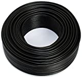 Cable para altavoz (2 x 1,50 mm2, 100 m), color negro