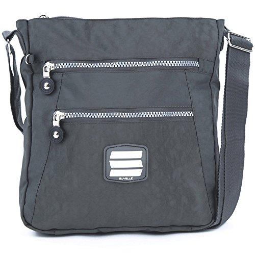 Suvelle Lightweight Go-Anywhere Travel Everyday Crossbody Bag Multi Pocket Shoulder Handbag 20103