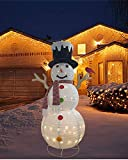 XinMengYuan 60 Inch Lighted Pop Up Snowman Decoration Indoor Outdoor Christmas Decoration