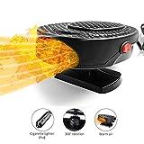 Calefactor portátil para coche, para invierno, parabrisas, calefacción de coche, ventilador de refrigeración, descongelación, 12 V, 150 W