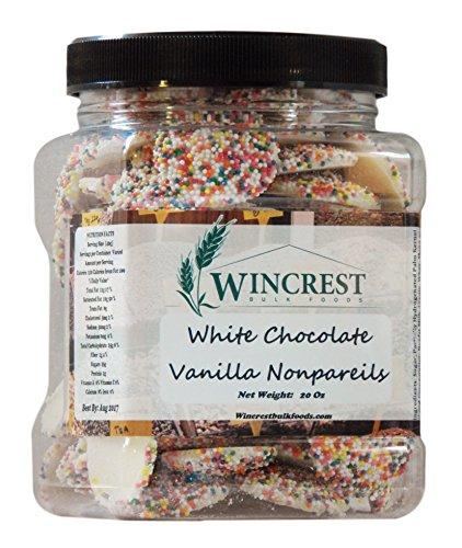 Chocolate Nonpareils - 1.25 Lb (20 Oz) Tub (White Chocolate Nonpareils)