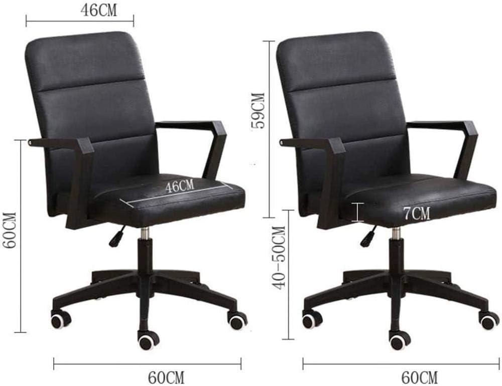 Chaise De Bureau Chaise Pivotante Confortable Et Simple À La Maison Chaise De Bureau D'Ordinateur Ergonomique À Hauteur Réglable pour L'Étude De La Salle De Réunion - Rose Noir