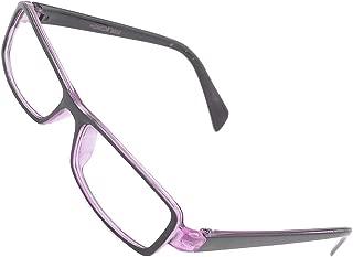 uxcell Plastic Full Rim Frame Clear Lens Glasses Spectacles Black Purple for Women Man