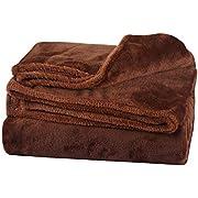 Dorcy 毛布 もうふ マイクロファイバー毛布 フランネル ふわふわ 柔らかい 軽くて暖かい 洗濯可 (ブラウン, 1シングル:140*200cm)