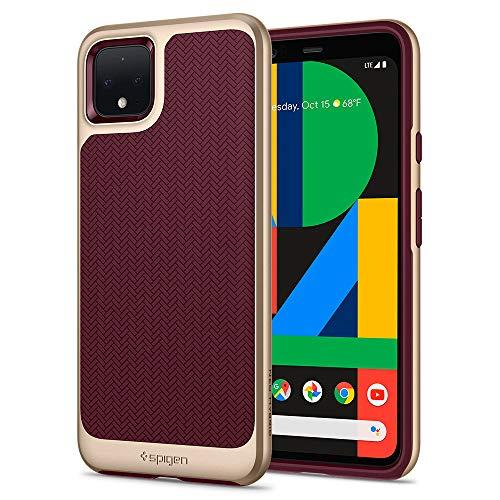 Spigen Neo Hybrid (Ver. 2) Designed for Google Pixel 4 XL Case (2019) - Burgundy
