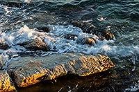 海の石、波1000ピース木製ジグソーパズル家族向けゲームプレイコレクションに最適