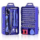 DAZAKA Juego de Destornilladores de Precisión Profesional 115 en 1 Kit de Herramientas de Reparación de Bricolaje para Reparar Electrónica, Teléfono Móvil, Laptop, Xbox, Gafas, Mirar