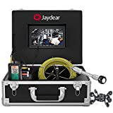 """Sewer Camera,100ft/30M Wireless Drain Camera 7""""HD Monitor WiFi Pipe Inspection Camera for Android/iOS, Live Video Waterproof IP68 HD 1080P Snake Camera for Home & Industrial Endoscope Plumbing Camera"""