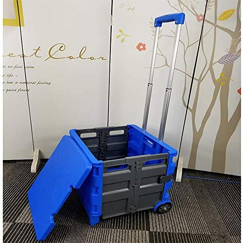 Trolley Carrello della Spesa Cassette Pieghevoli Ruote di stoccaggio di plastica Maniglia Mercato del Mobile Rotella del Sacchetto Trolley Tote Passeggino Campeggio Passeggino,A-Big