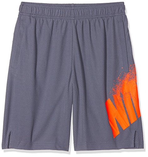 Nike Jungen Dri-Fit Trainingsshorts, Grau (Light Carbon/Hyper Crimson), Gr. XL