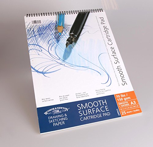Winsor & Newton 6689623 Spiralgebundener Skizzenblock, 25 Blatt, 150 g/m², DIN A3