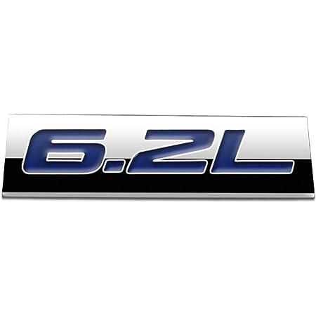 2pcs 3D 6.2L Engine Emblems Badge Trunk Door Fender Bumper Auto Sticker Decal for 19-21 Chevrolet Silverado 6.2L Gloss Black Emblem Sierra Camaro GMC Ford F150 F250 F350 Trucks Black