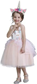 Yalla babY Unicorn Dress Girls with Headband - Pageant Party Dress Costume for Girls - Knee Length Short Tutu Dress 90-130...