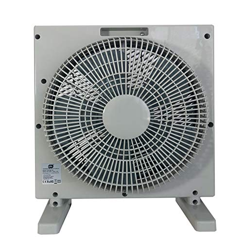 Ventilatore da pavimento, 30 cm, 3 velocità, timer, oscillante, 50 Watt, facile da trasportare, volume max. 52 dB, ideale per ufficio o salotto, argento/grigio