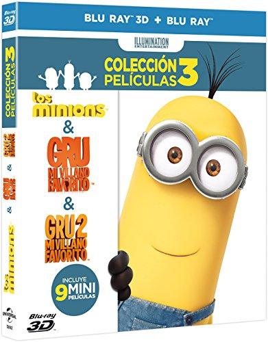 Pack Minions (Gru + Gru 2 + Minions) (BD + BD 3D) (Carátula 3D) [Blu-ray]