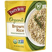 Tasty Bite Organic Brown Rice, Microwaveable Ready to Eat Entrée, 8.8 Ounce (Pack of 6)