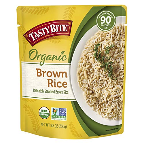 Tasty Bite Organic Brown Rice Microwaveable Ready to Eat Entrée 88 Ounce Pack of 6