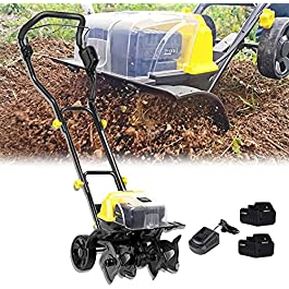 Motobineuse électrique Bineuse électrique Taber électrique de jardin, taillée pliable de tarifeuse Earthwise, largeur de…