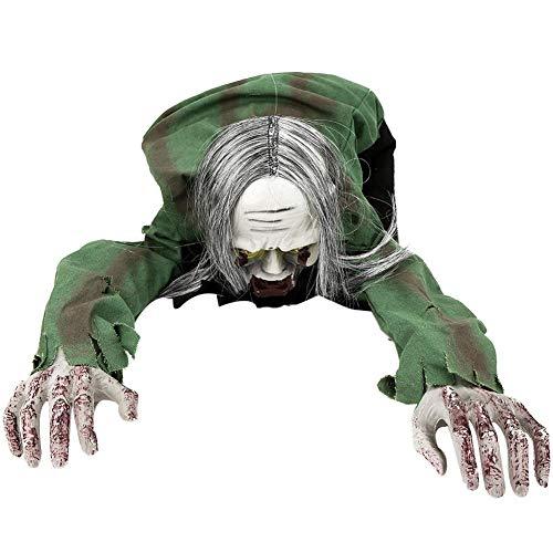 Tnfeeon Halloween Requisiten Biegbar Krabbeln Zombie Ghost Sound Control Spielzeug Raum Yard Party Lustige Kreative Prop Dekoration