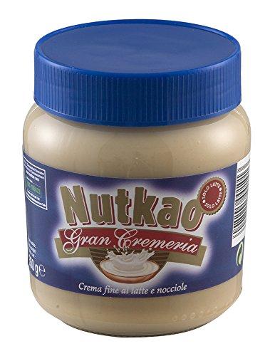 Nutkao - Gran Cremeria, Crema Fine al Latte e Nocciole - 2 vasetti da 350 g [700 g]