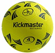 Microdot texture for extra grip and control robust, durable 100% rubber surface branded in Kickmaster key colours.