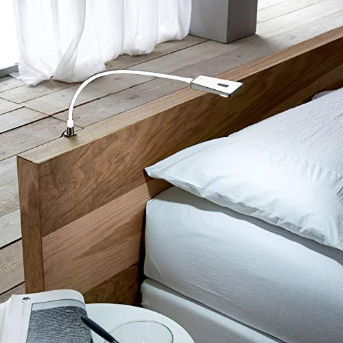 2x SO-TECH® Lampe liseuse flexibleLuminoso LED Lampe de chevet DEL Lampe pour lire LED Lampe de lecture blanc incl. Alimentation électrique