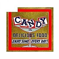 キャンディーの13cmx12.3cmはおいしいフードカーステッカーフロントガラス漫画デカール冷蔵庫です