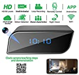 Spy hidden HD real-time camera clock WiFi wireless network cloud storage camera,