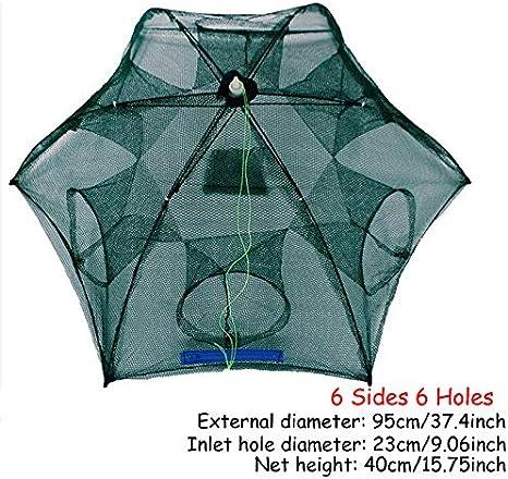 Automatic Folding Umbrella Type Fishing Net Shrimp Crab Fish Trap Cast Cage