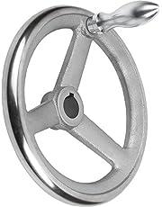 Kip Handwiel met groef gietijzer, D1 = 125 mm