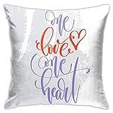 Fundas de almohada One Love One Heart para niñas, mujeres,