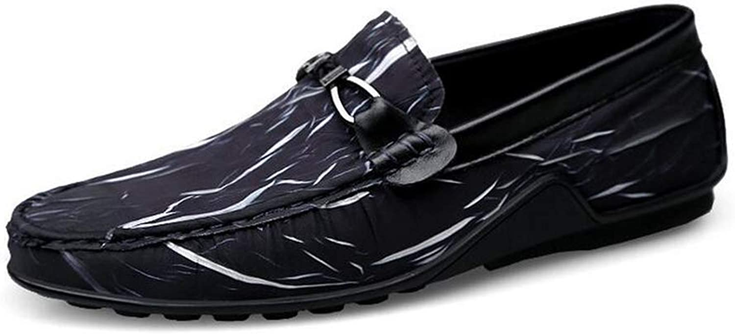 Y-H Men's Casual shoes,Spring Fall New Light Soles Loafers & Slip-Ons, Soft Sole Comfort Driving shoes Walking shoes,bluee,39