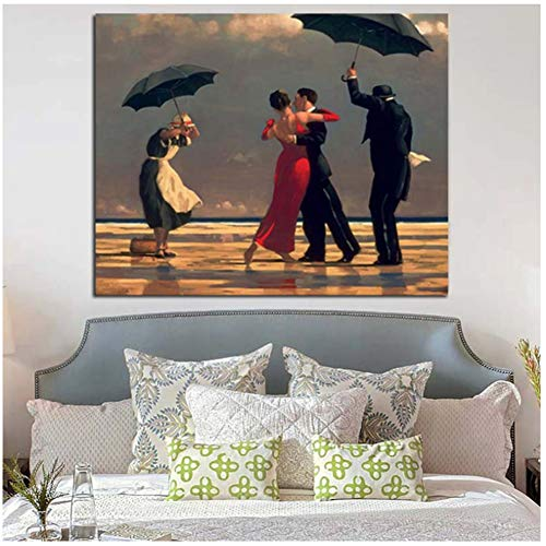 DNJKSA Edward Hopper Tanzen Leinwand Gemälde Moderne Kunstwerke PosterDrucken Wandkunst Bild Wohnzimmer Wohnkultur-60x90cm Kein Rahmen